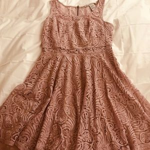 Lavender lace baby doll dress